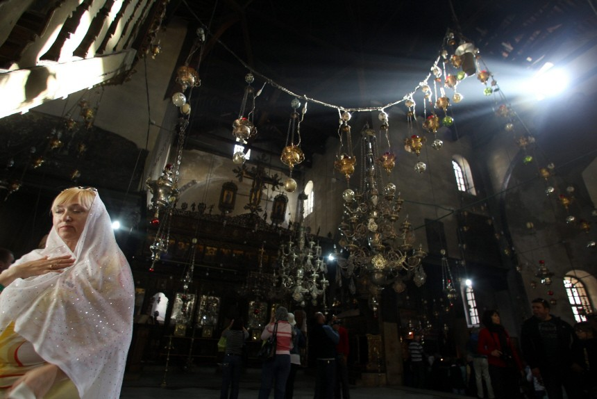 Christian Pilgrims at the Birthplace of Jesus Christ