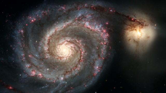 SPACE-HUBBLE-WHIRLPOOL GALAXY