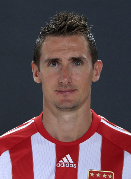 Bayern Munich's Klose poses during official team photo session in Munich