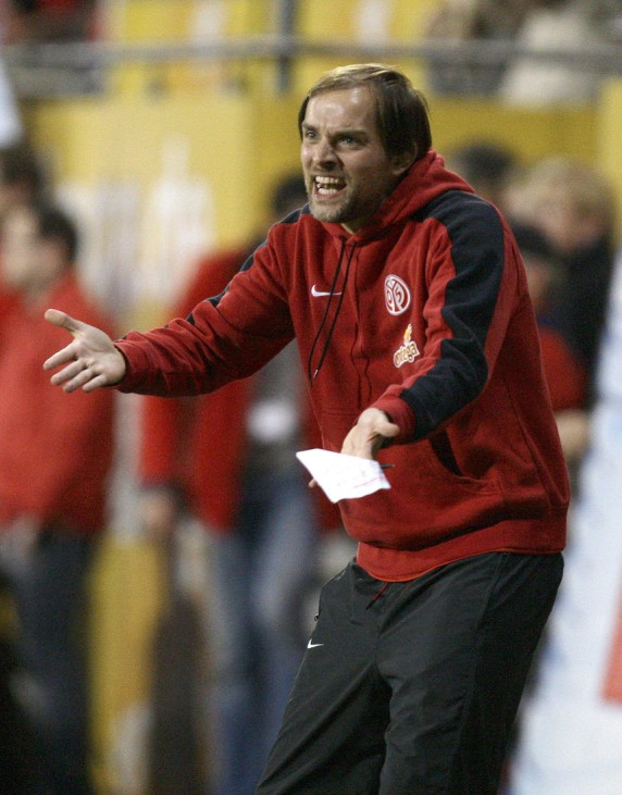 Mainz's coach Tuchel reacts during their German Bundesliga soccer match against Hanover in Mainz