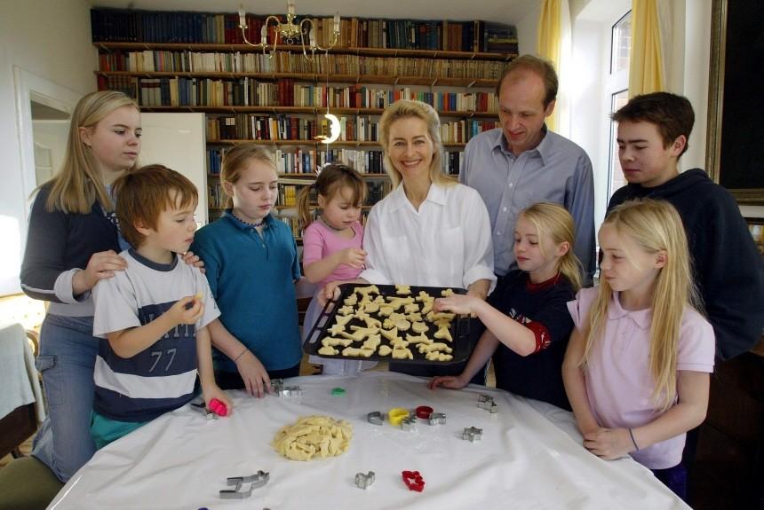 Weihnachten Politiker Familie von der Leyen CDU