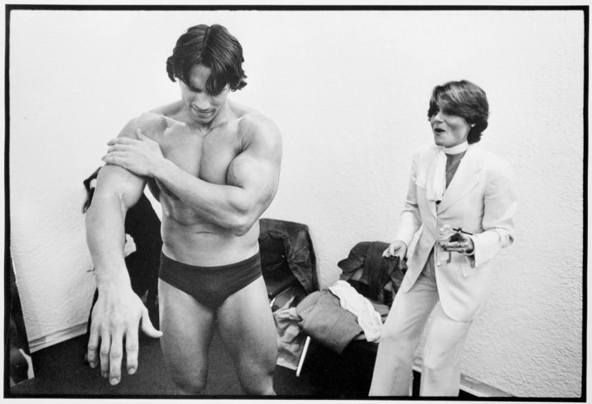 Arnold Schwarzenegger und Candice Bergen, 1976
