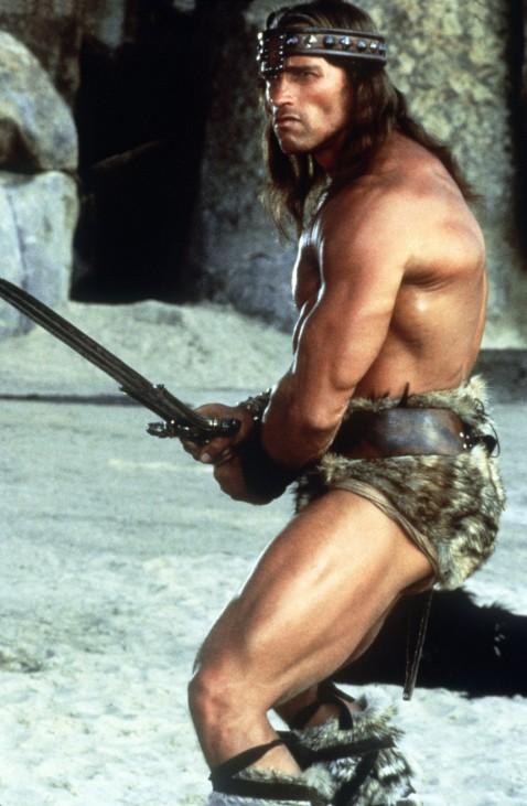 "Arnold Schwarzenegger in ""Conan, der Barbar"", 1984"