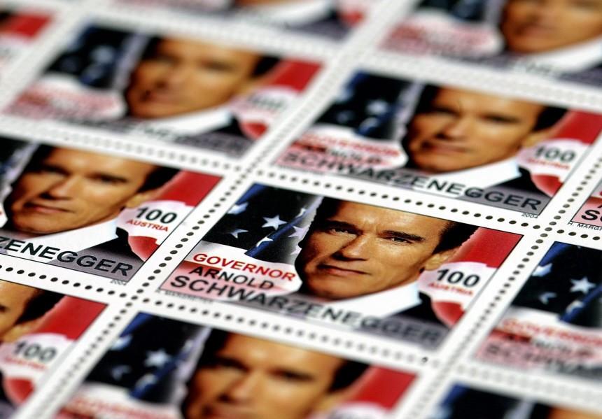Schwarzenegger-Briefmarke in Österreich