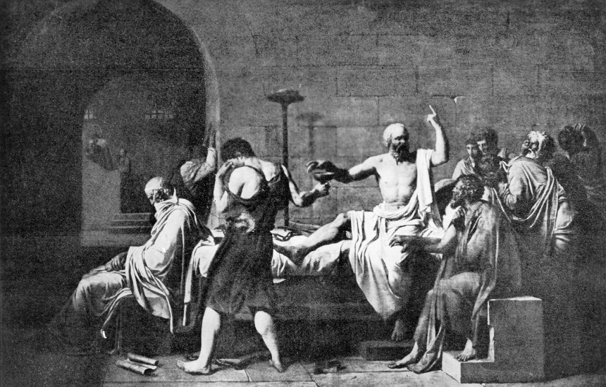 Gemälde von Jacques Louis David: Der Tod des Sokrates