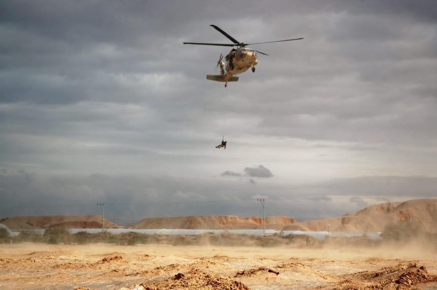 Rettungsaktion im israelischen Hochwassergebiet