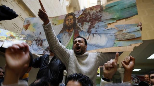 Ägypten: Anschlag auf Christen: Christlicher Protest gegen die Anschläge in Ägypten:Auch deutsche Kopten fühlen sich bedroht.