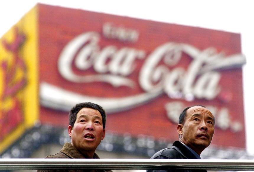 Coca Cola Werbung in Schanghai, 2001