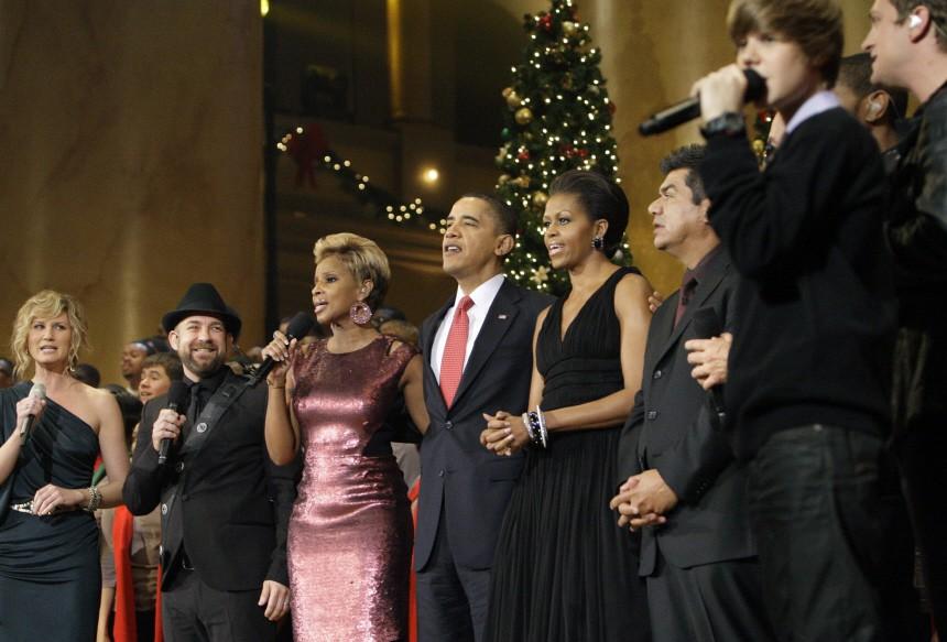 Jennifer Nettles, Kristian Bush, Mary J Blige, Barack Obama, Michelle Obama, George Lopez, Justin Bieber
