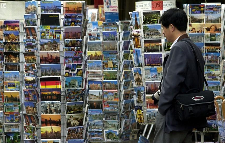Chinesischer Tourist in Frankfurt