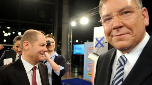 Ahlhaus und Scholz treffen in erstem TV-Duell aufeinander
