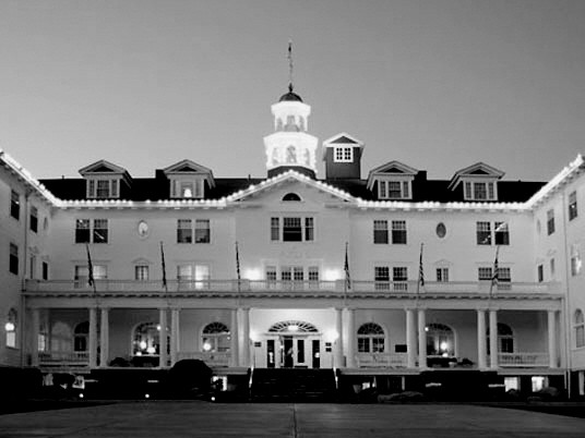 Hotel spukhotel schwarz weiss
