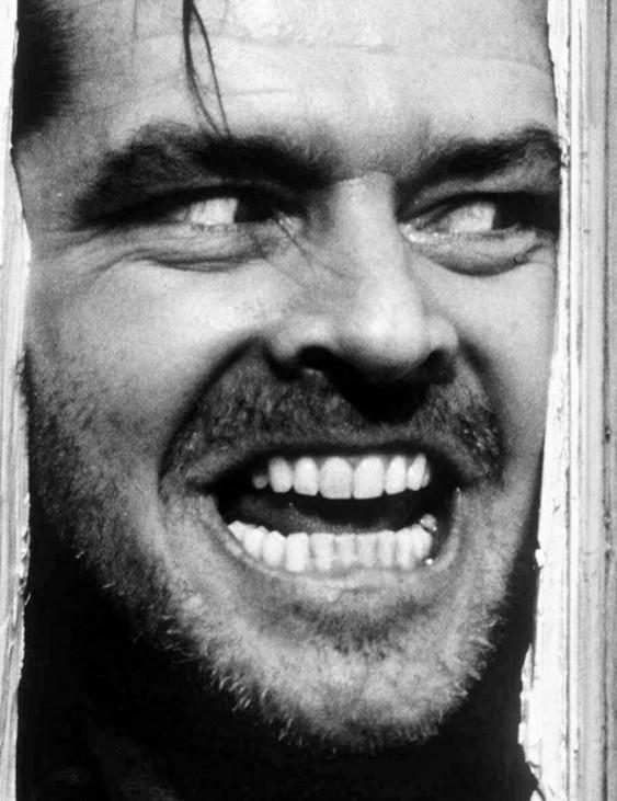 Hotel spukhotel schwarz weiss Filmfoto Jack Nicholson