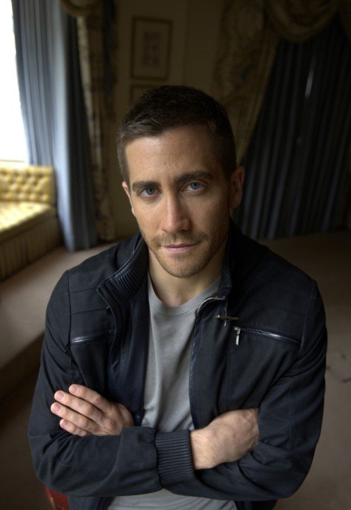 U.S. actor Gyllenhaal poses for a photograph at his hotel in central London