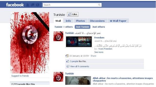 Facebook Tunesien
