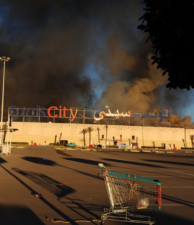 Fire at supermarket