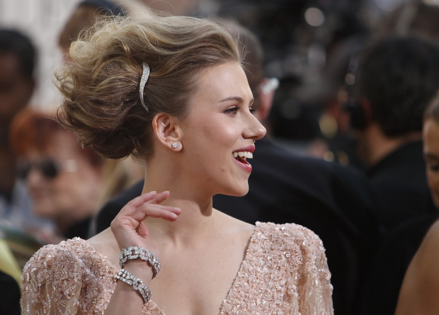 Actress Scarlett Johansson arrives at the 68th annual Golden Globes Awards in Beverly Hills