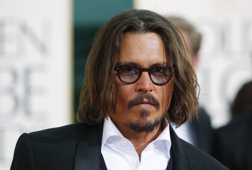 Actor Johnny Depp arrives at the 68th annual Golden Globes Awards in Beverly Hills
