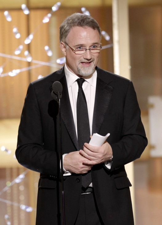 David Fincher accepts the award for best director of a motion picture for 'The Social Network' at the 68th annual Golden Globes Awards in Beverly Hills
