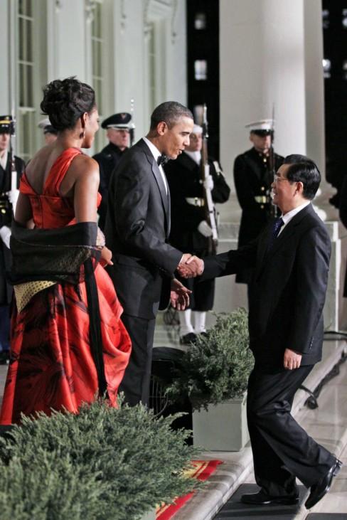 Barack Obama, Michelle Obama, Hu Jintao