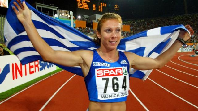 Leichtathletik: Sprinter vor Gericht: Gold bei der EM 2002 in München: Ekaterini Thanou.