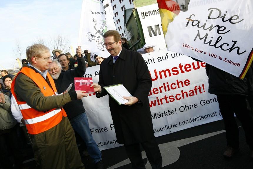 Bauernprotest bei der Grünen Woche