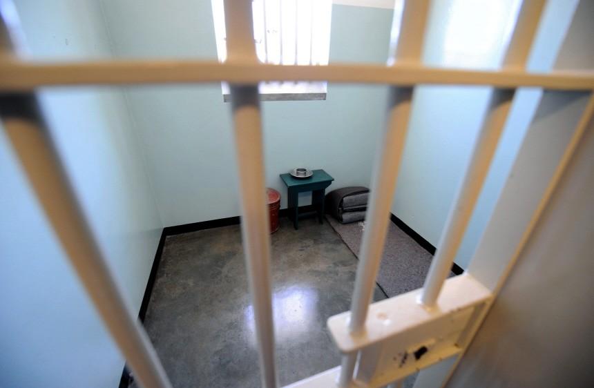 Mandelas Zelle auf Robben Island