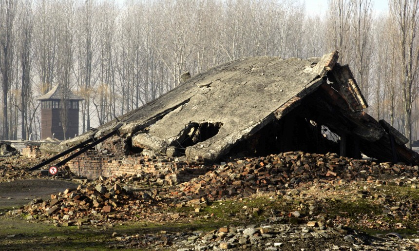KZ Auschwitz , Ruinen einer Gaskammer
