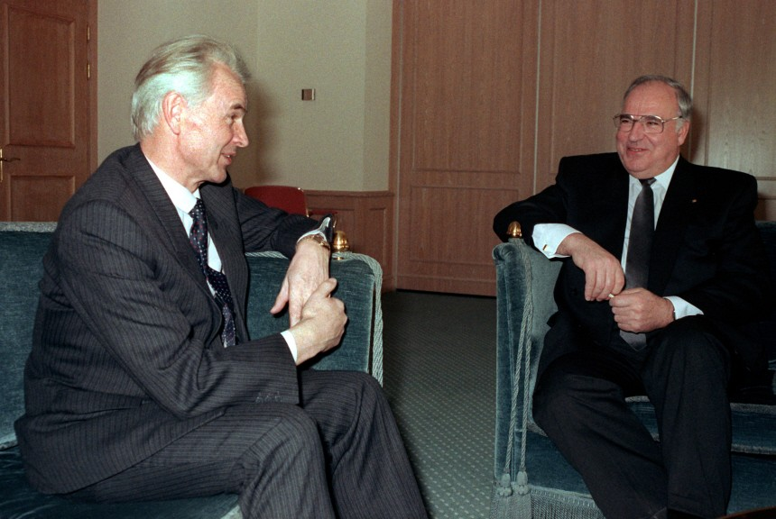 Hans Modrow und Helmut Kohl