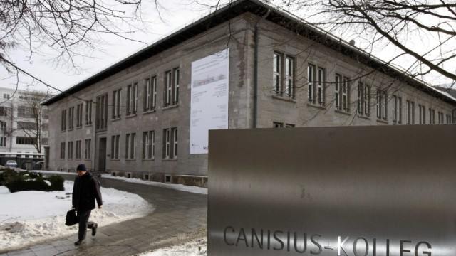 A general view shows the 'Canisius Kolleg' catholic high school at Berlin's Tiergarten district in Berlin