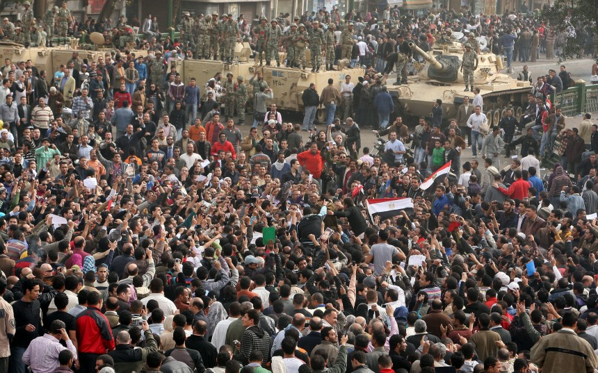 Cairo one day after protests
