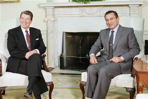 Mubarak Reagan