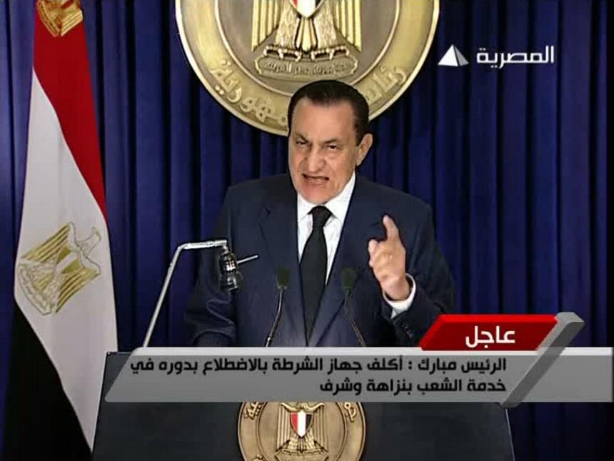 Präsident Mubarak 2001