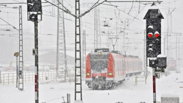 Münchner S-Bahn im Winter, 2010