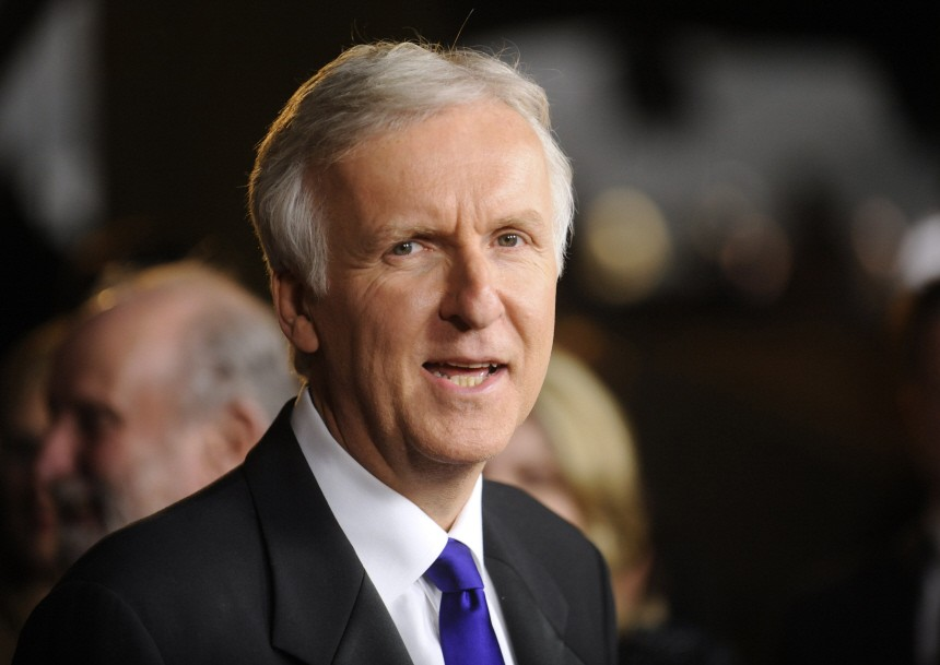 James Cameron arrives at the 63rd annual DGA Awards dinner in Los Angeles