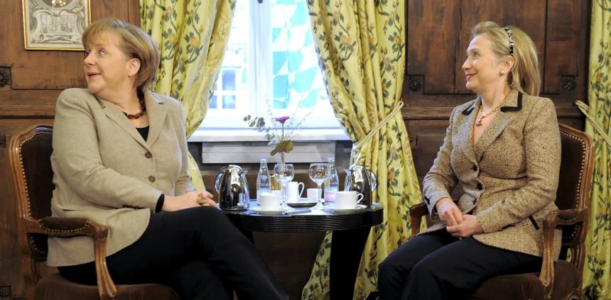 Hillary Rodham Clinton, Angela Merkel