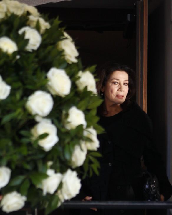 German actress Elstner arrives for a funeral service for German film producer Bernd Eichinger in Munich