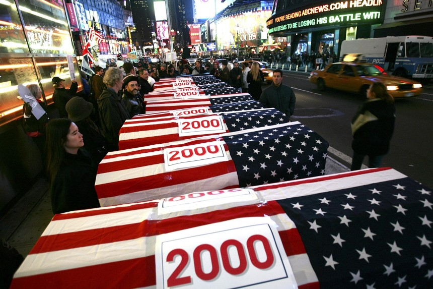 ANTI-WAR PROTESTS ERUPT AS U.S. REACHES 2,000 MILITARY DEATHS IN IRAQ
