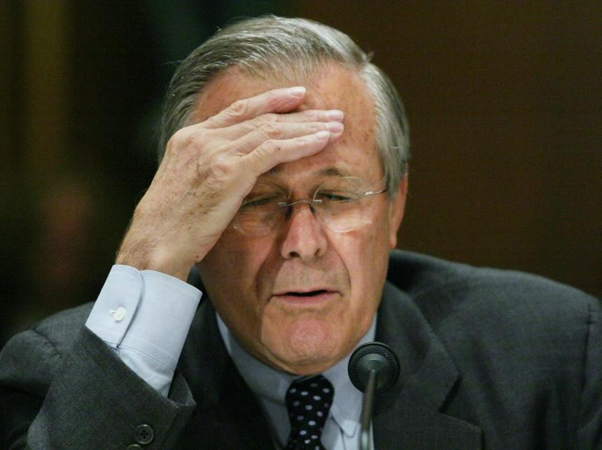 US Defense Secretary Donald Rumsfeld before the Senate Appropriations Committee