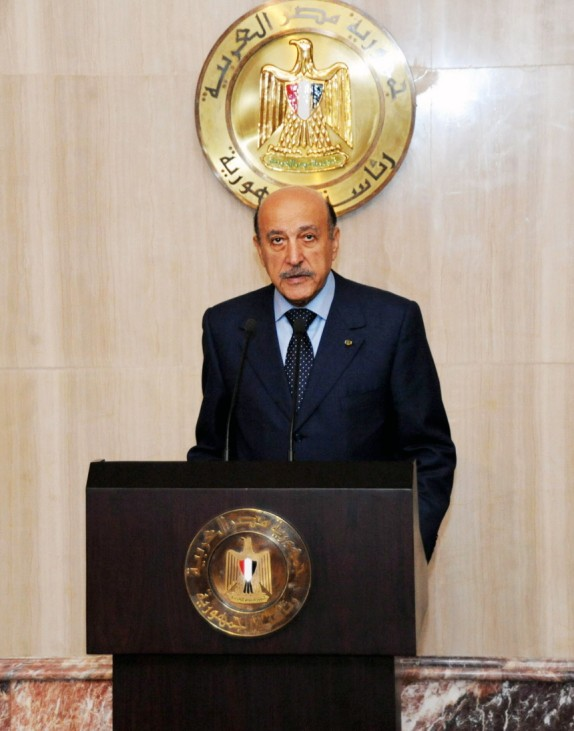 Vice President Omar Suleiman meets with Editors in Chief of  Egyp