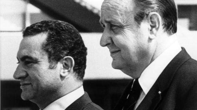 Hans-Dietrich Genscher und Husni Mubarak