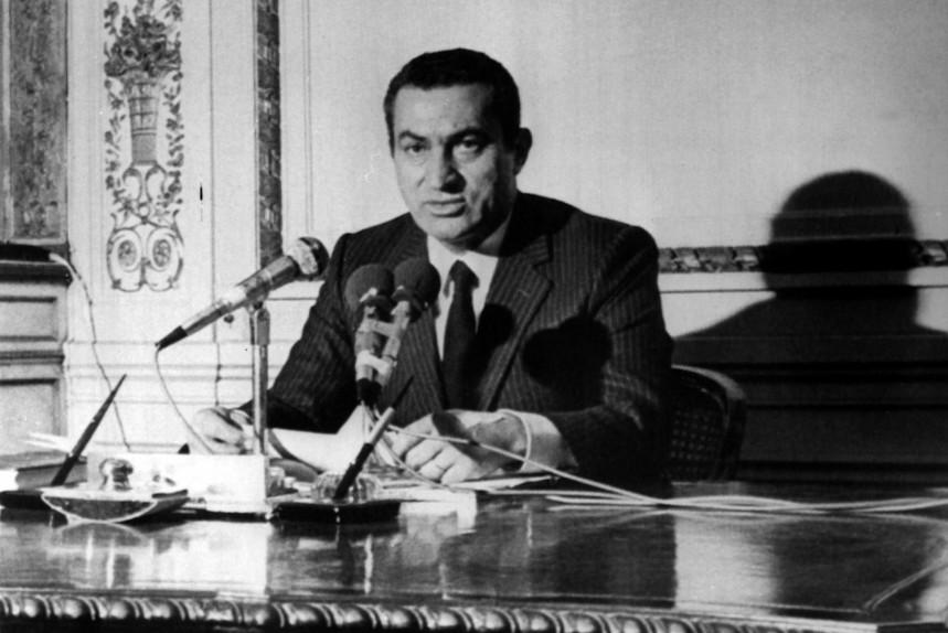 Ägyptens Vizepräsident Husni Mubarak