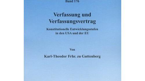 Karl-Theodor zu Guttenberg Dissertation Cover