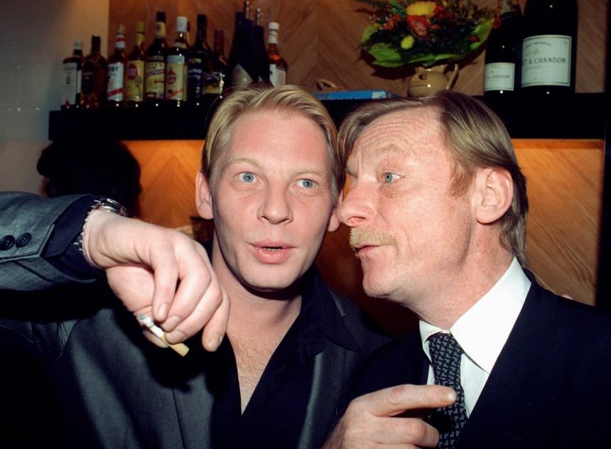 Ben Becker mit Stiefvater Otto Sander