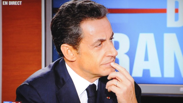 Nicolas Sarkozy TV interview