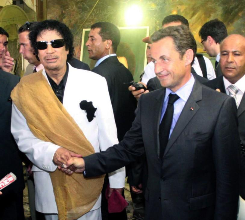 Sarkozy in Tripolis