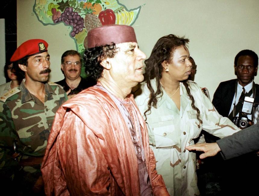 GADDAFI AT OPENING OF OAU SUMMIT IN LIBIYA