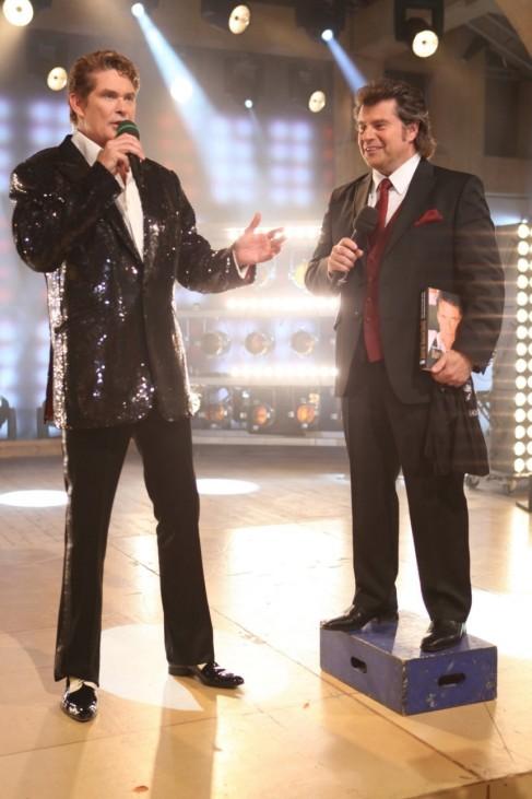 David Hasselhoff und Moderator Andy Borg.