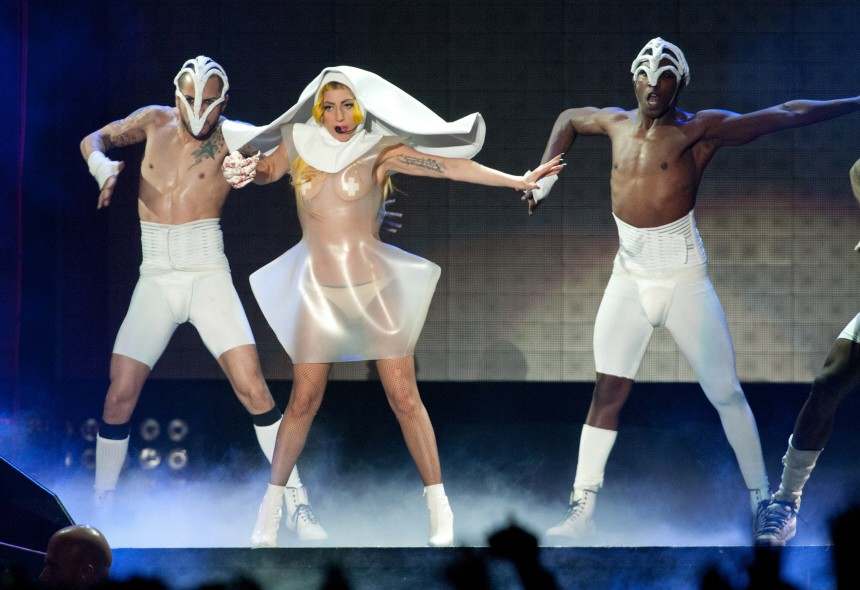 Lady Gaga performs at start of new tour