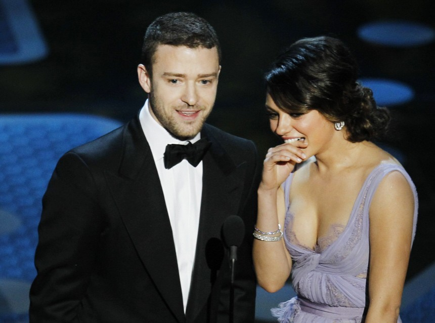 Presenters Timberlake and Kunis stand on stage during the 83rd Academy Awards in Hollywood